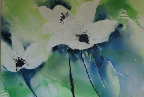 Grosse weisse Blüten