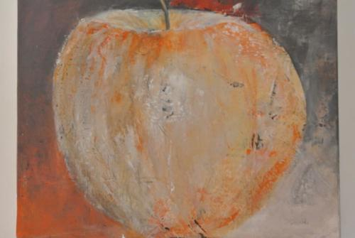 Apfel im Shabby look